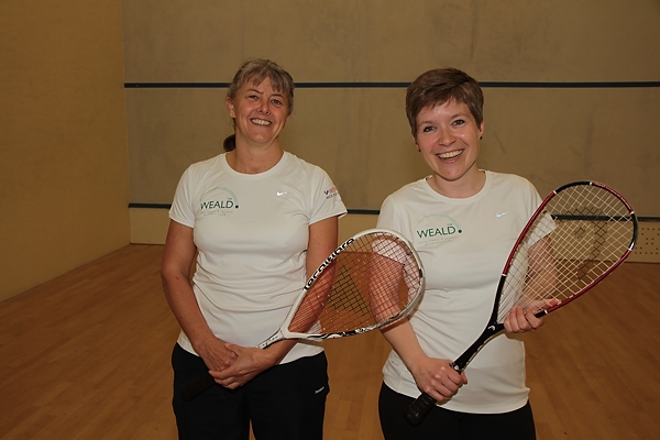 Sarah Naish and Gemma Shardlow - Ladies' finalists